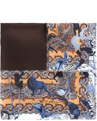 Printed border pocket square medium 533083