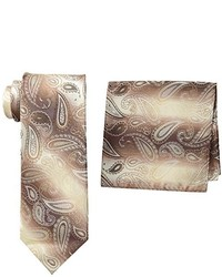 Stacy Adams Microfiber Pasiley Print Tie Set