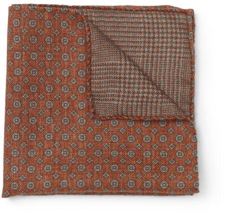 Club Monaco Wool Double Face Pocket Square