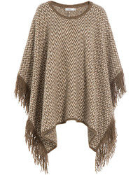 Knit cape with alpaca medium 349239