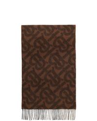 Burberry Brown Cashmere Tb Mega Check Scarf