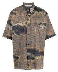 Acne Studios Abstract Print Short Sleeve Shirt
