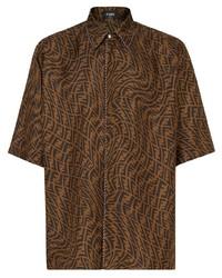 Fendi Ff Vertigo Print Oversize Shirt
