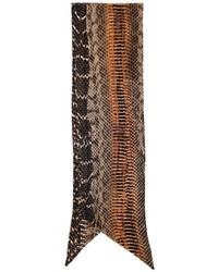Brown Print Silk Scarf