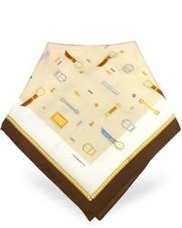Moreschi Buckle Print Twill Silk Square Scarf