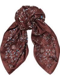 Etoile Isabel Marant Toile Isabel Marant Andy Floral Print Silk Scarf