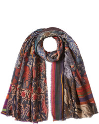 Faliero Sarti Printed Scarf With Cashmere And Silk