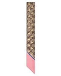 Gg bee silk neck scarf medium 8862013