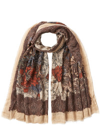 Faliero Sarti Printed Scarf With Virgin Wool And Silk