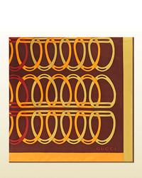 Gucci Stirrup Print Silk Twill Carr
