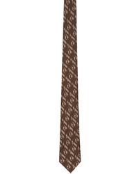 Fendi Brown Silk Forever Tie