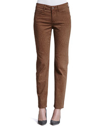 Brown Print Skinny Pants