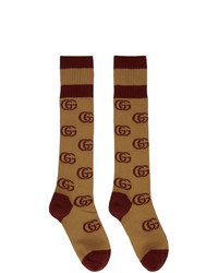 Gucci Brown Double G Socks