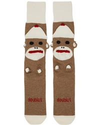 Doublet Brown Knit Sock Socks