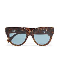 Fendi Oversized Printed D Frame Acetate Sunglasses