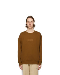 MAISON KITSUNÉ Brown Puma Edition Logo Sweatshirt