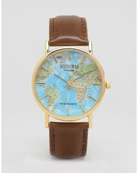Reclaimed Vintage Inspired Classic Map Print Watch To Asos