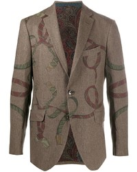 Etro Pegaso Print Wool Blend Blazer