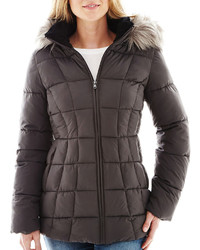 jcpenney Ana Ana Faux Fur Trim Hood Puffer Coat