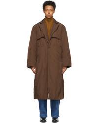 CONNOR MCKNIGHT Brown Nylon Vented Puffer Coat