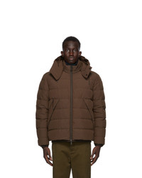 Ermenegildo Zegna Brown Down Stratos Puffer Jacket