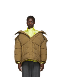 Balenciaga Brown Swing Puffer Jacket