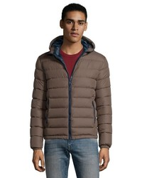 Herno Brown Water Resistant Quilted Down Fill Zip Front Jacket