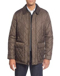 Brown Quilted Field Jacket
