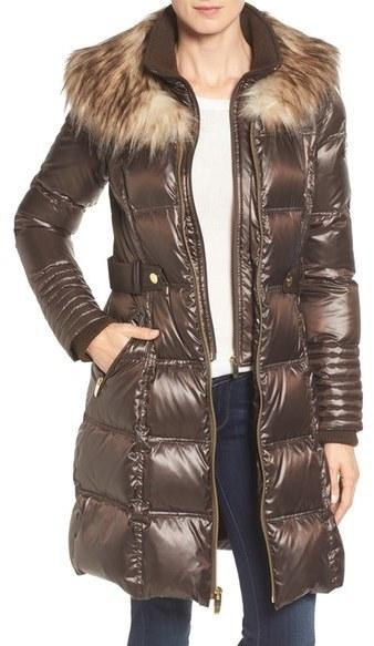 Via Spiga Quilted Coat With Faux Fur Trim | Where to buy & how to wear : via spiga quilted coat - Adamdwight.com
