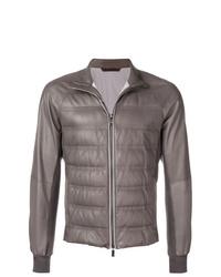 Ermenegildo Zegna Padded Leather Jacket