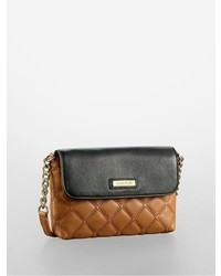 Brown Quilted Leather Crossbody Bag