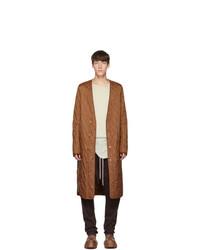 Rick Owens Brown Long Er Coat