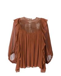Lace yoke peasant blouse medium 7745616
