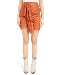 Isabel Marant Lea Draped Leather Skirt