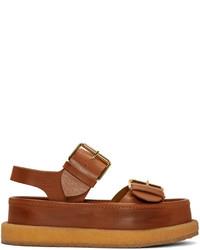 Stella McCartney Brown Buckles Sandals