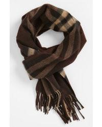 Heritage check cashmere scarf medium 11138