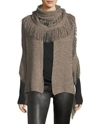 Stella McCartney Oversized Cashmere Wool Fringe Scarf