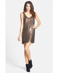 Nicole Miller Sequin Silk Shift Dress