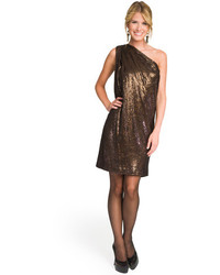 One shoulder sequin sack dress medium 108319