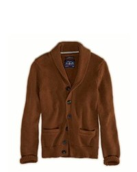 Brown Shawl Cardigan