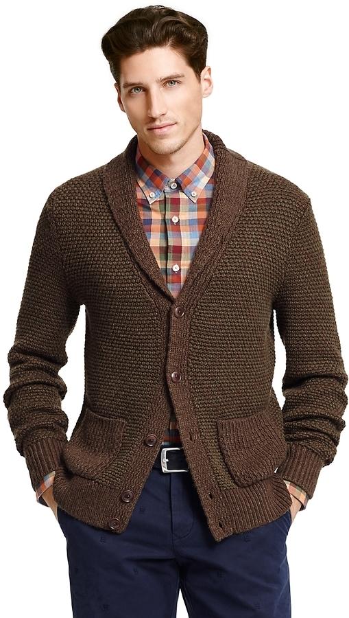 Tommy Hilfiger Final Sale Textured Shawl Collar Cardigan | Where ...