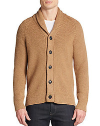 Shawl collar camel hair wool cardigan medium 257461
