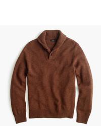 J.Crew Lambswool Shawl Collar Sweater