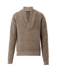 Haider Ackermann Shawl Neck Knit Sweater