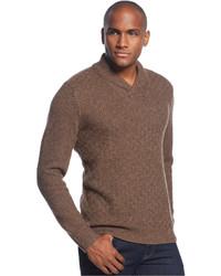 Wool blend shawl sweater medium 118856