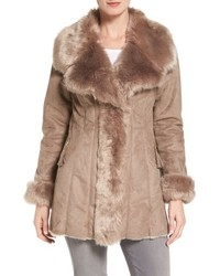 Faux shearling coat medium 785572