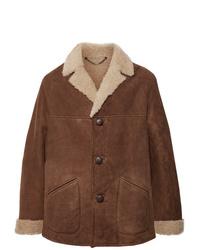 Belstaff Leather Trimmed Shearling Coat