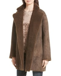 Reversible teddy genuine shearling coat medium 4952213