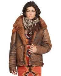 Brown shearling jacket original 10139915