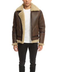 Acne Studios Acne Ian Shearling Jacket Brown